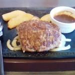 今日のお昼はステーキガストのハンバーグ