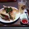 成田空港で軽食を喰らう